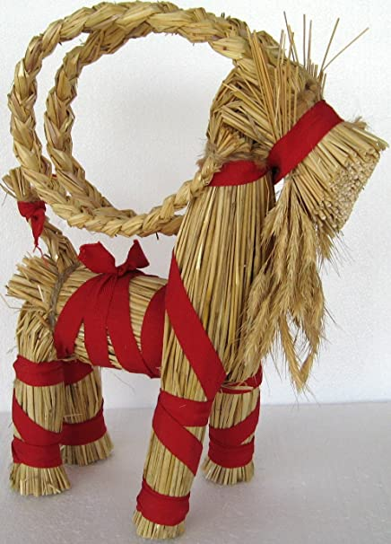 Christmas Goat.14 Swedish Christmas Straw Goat
