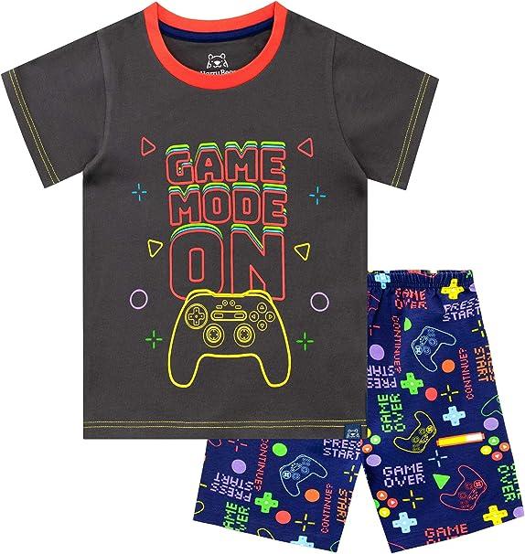 Harry Bear Boys Gaming Short Pajamas