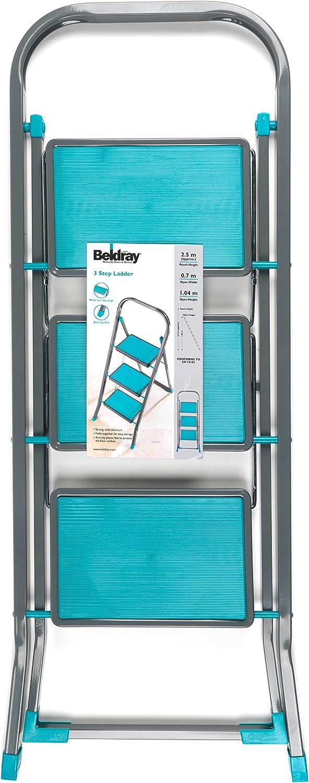 Beldray/® LA023957TQ Trittleiter f/ür den Haushalt mit 2/Stufen t/ürkis