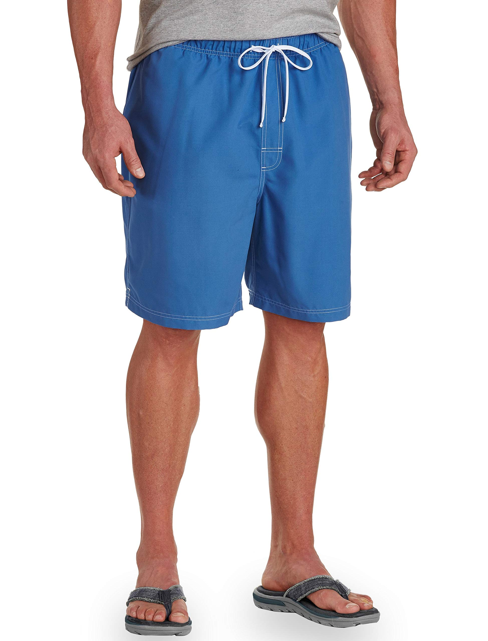 Harbor Bay by DXL Big and Tall Solid Microfiber Swim Trunks, Blue 3X by Harbor Bay