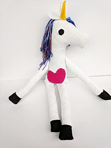 Amazon Com Big Unicorn Stuffed Animal Plush With Magical Yarn