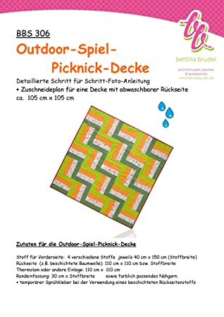 BBS 306 Schnittmuster für Patchwork Picknick Decke Fotoanleitung ...
