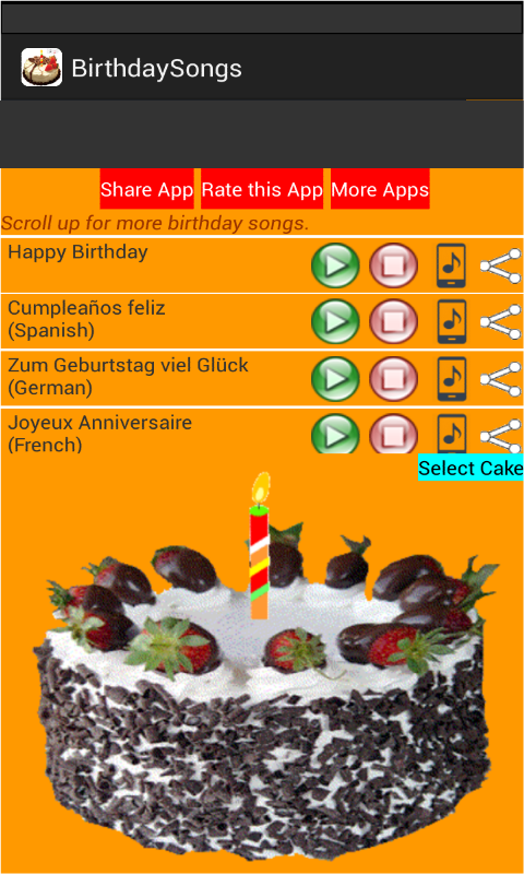 Amazon Com Birthday Songs Appstore For Android