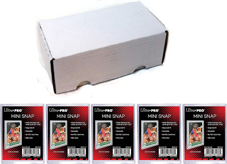 Ultra Pro Mini Snap Tarjetero #81136 x5 + 400 Count Caja de Almacenamiento: Amazon.es: Juguetes y juegos