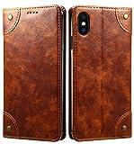 SINIANL iPhone 8 Case, iPhone 7 Case, Leather