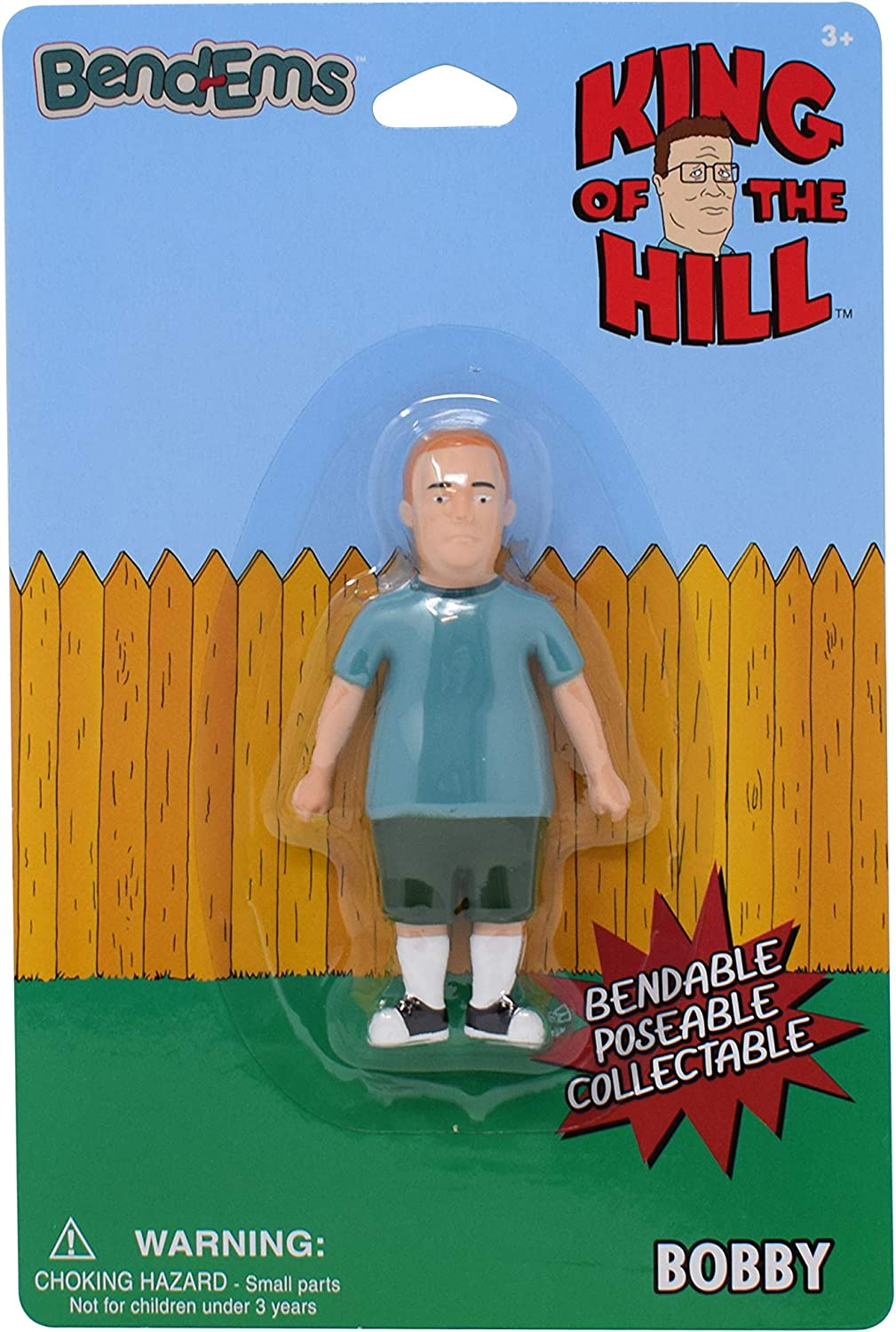 Sunny Days Entertainment King of The Hill BendEms: Bobby - Bendable Posable Action Figure