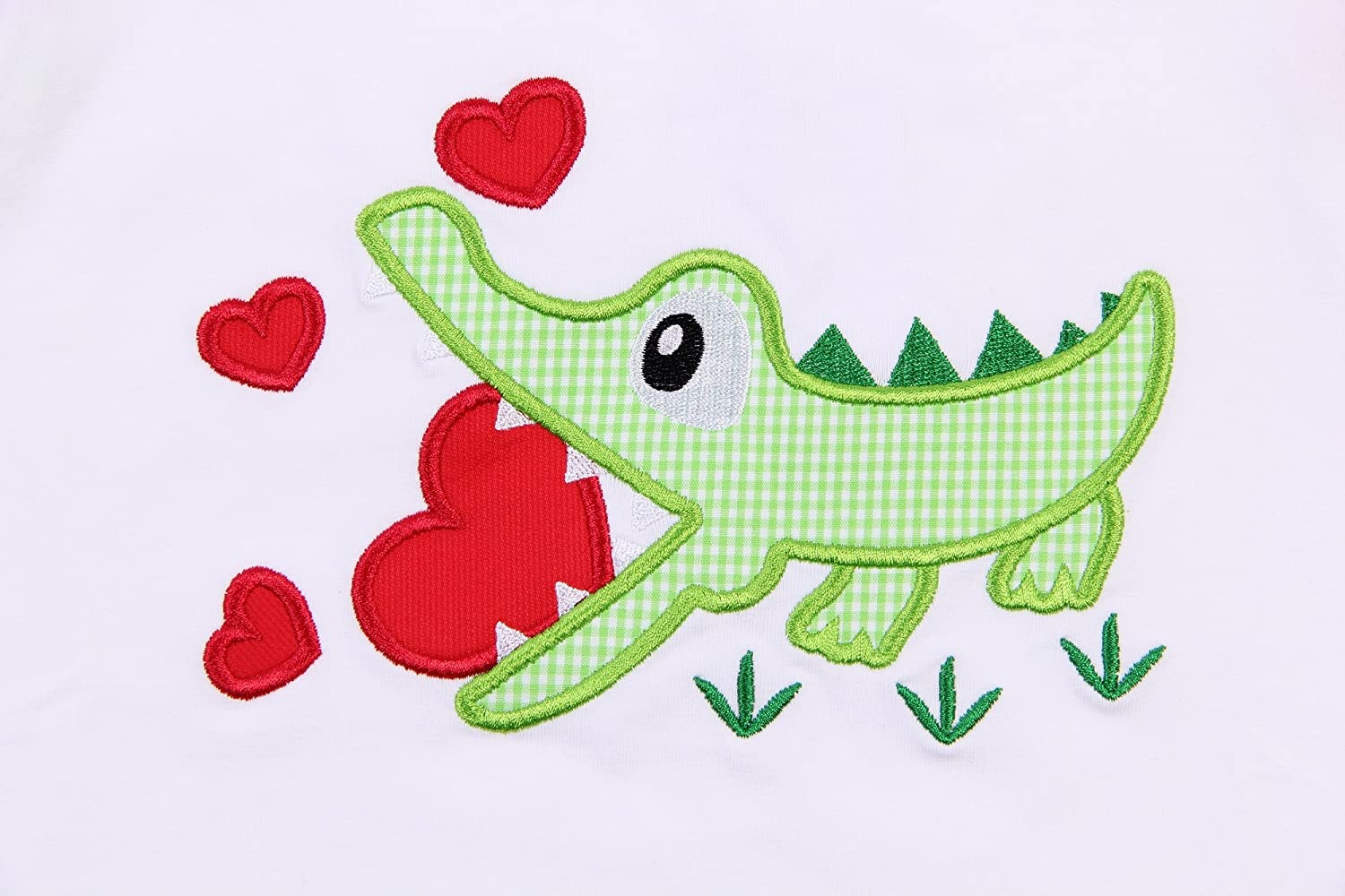 Babeeni Baby Girl Clothes Set with Lovely Crocodile Appliqu/é Patterns for Valentine Occasion