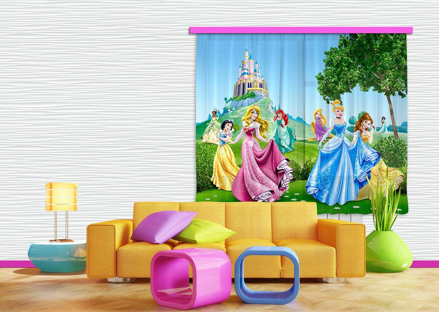 AG Design FCS xl 4319 - Tende per camera bambini, motivo principesse Disney FCSXL 4319