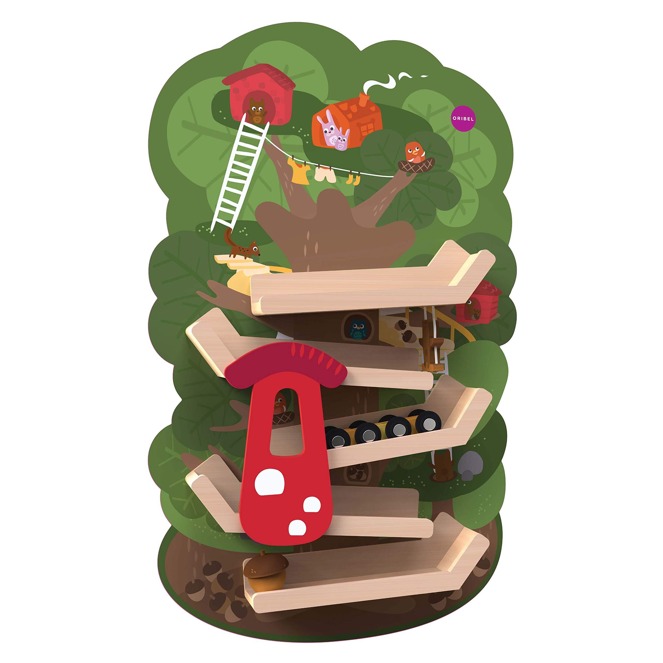 ORIBEL VertiPlay Wall Toys Play Wall Combo Set (Tree Top Adventure, Slidey Spidey, Woodpecker, Xylophone, Door Knocker) by ORIBEL (Image #4)