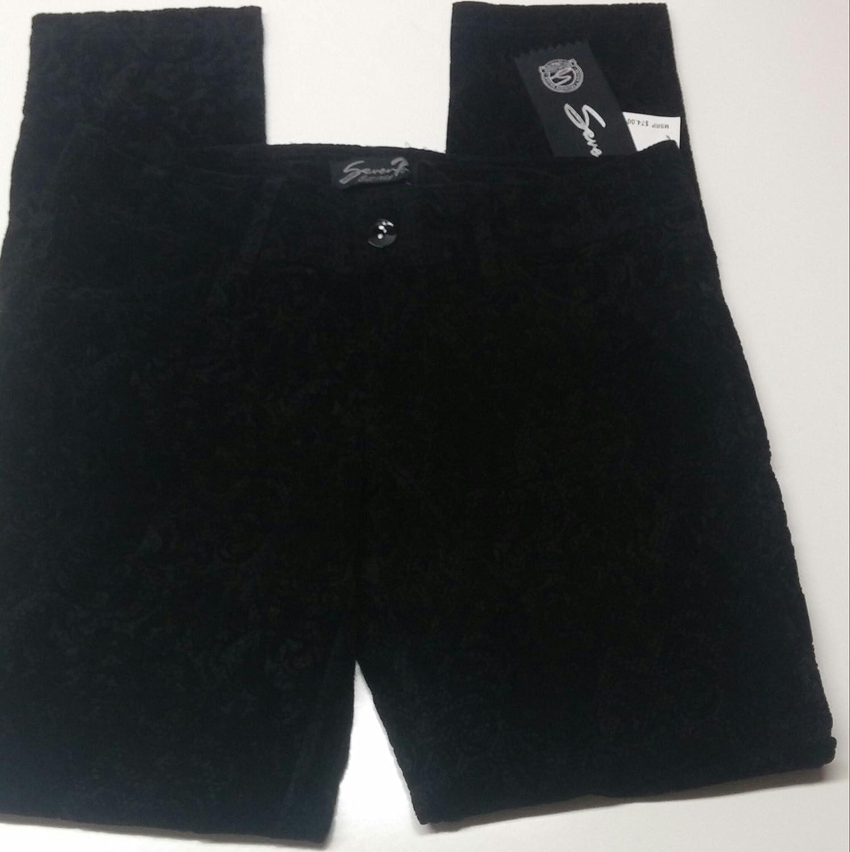 Seven7 Women's Slim Straight Jeans, Size 8, Ebony Black