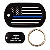 Custom Engraved KEYCHAIN - Thin Blue Line Flag