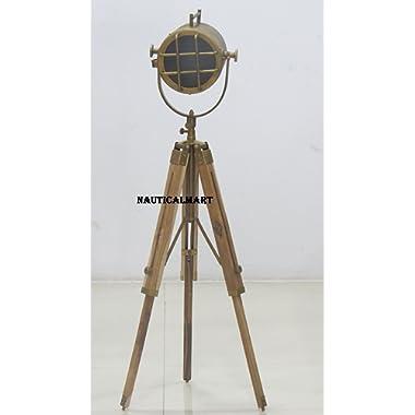 NauticalMart Antique Designer Theatre Searchlight Floor Lamp Tripod Sealight