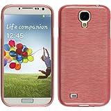 PhoneNatic Samsung Galaxy S4 Hülle Silikon rosa brushed Case Galaxy S4 Tasche Case