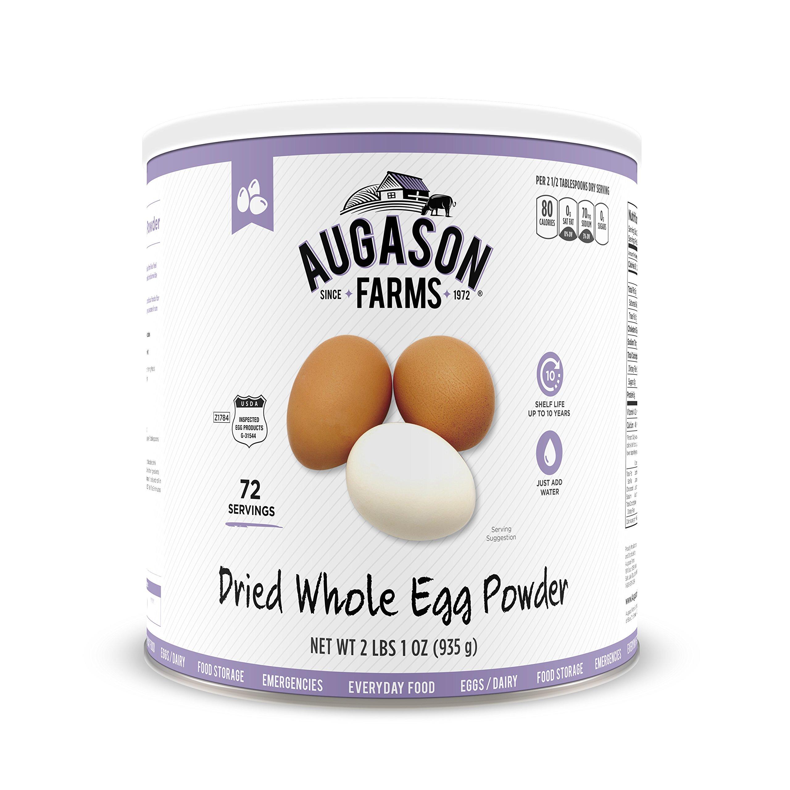 Augason Farms Dried Whole Egg Product 2 lbs 1 oz No. 10 Can by Augason Farms (Image #1)