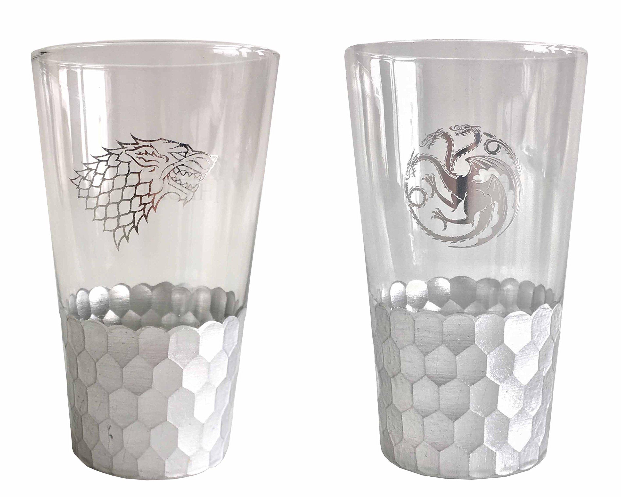 Game of Thrones 16oz Sigil Pint Glass (Set of 2)