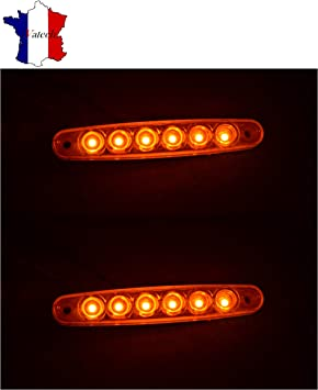 1 X 12V ORANGE SMD 6 LED FEU DE GABARIT CAMION  SHASSIS REMORQUES VAN BUS