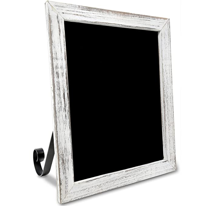 TenXVI Designs Freestanding Chalkboard Sign – Multiple Colors and Sizes – for Weddings, Tabletops, Countertops, Restaurants, Kitchens, Rustic Home ...