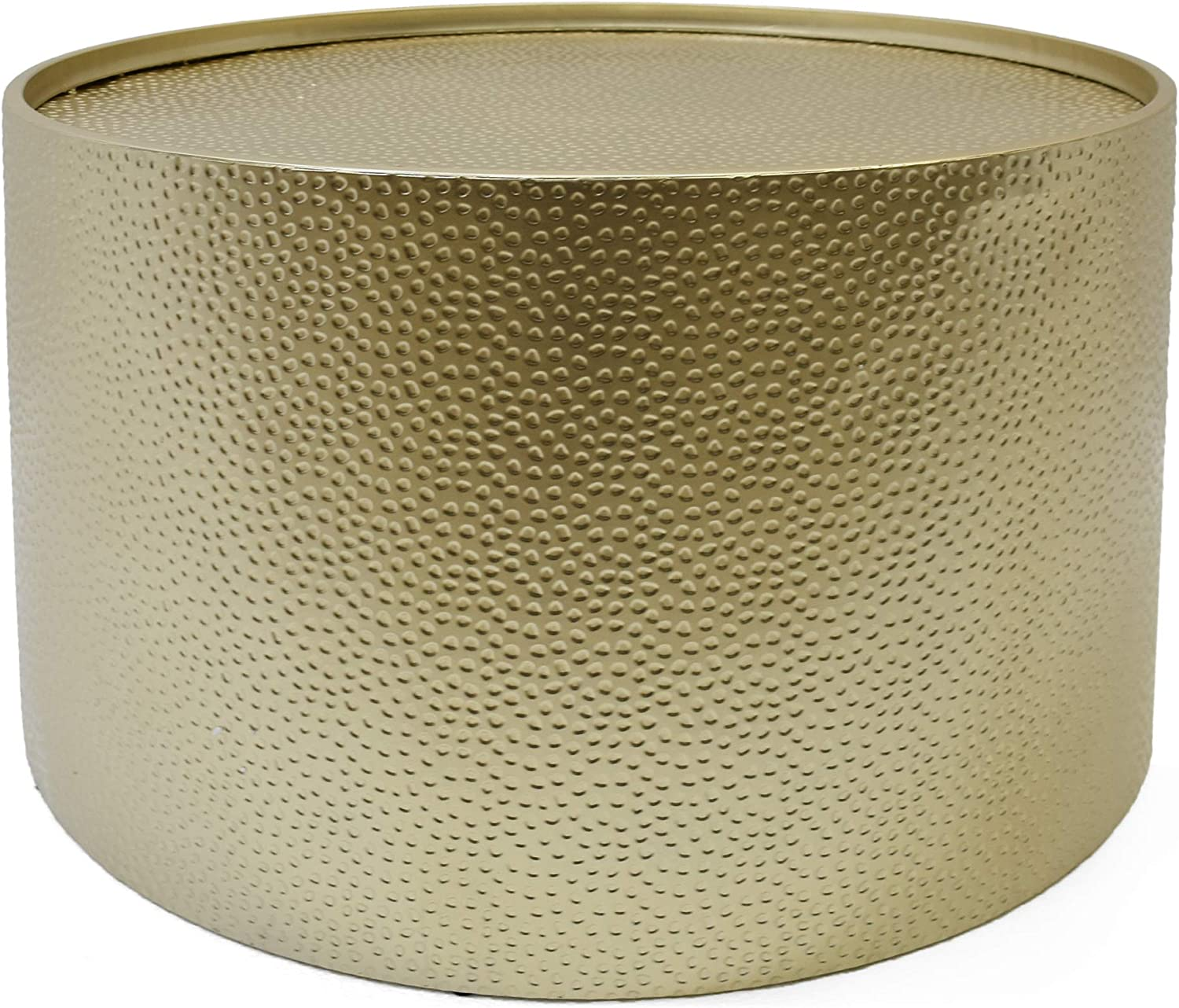"""Christopher Knight Home 308945 Rache Modern Round Coffee Table with Hammered Iron, Gold, 26. 00"""" L x 26. 00"""" W x 17. 00"""" H"""