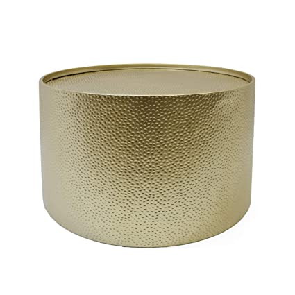 Amazon.com: Rache Modern Round Coffee Table With Hammered Iron, Gold:  Kitchen U0026 Dining