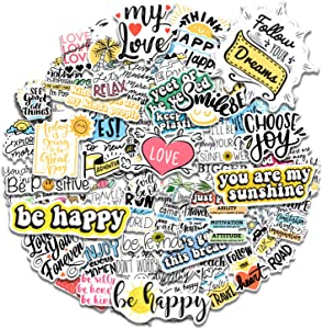 100Pcs Inspirational Stickers for Laptop Stickers ,Reward Motivational Stickers for Water Bottles Trendy Vinyl Quote Positive Word Stickers for Teens, Adults. [ Dream Bigger Series Stickers ]