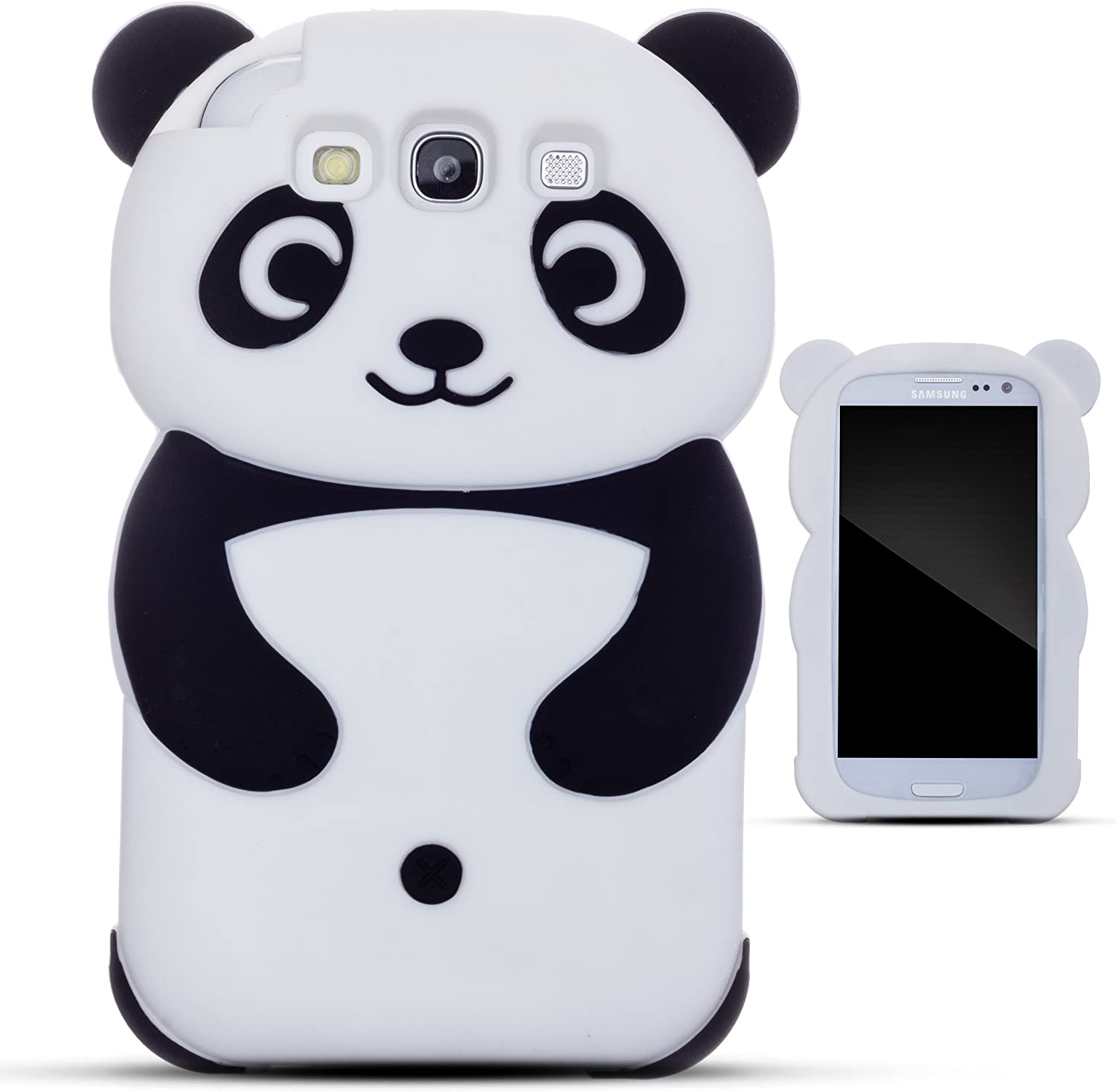 Zooky® black silicone panda Case / Cover / Shell for Samsung ...