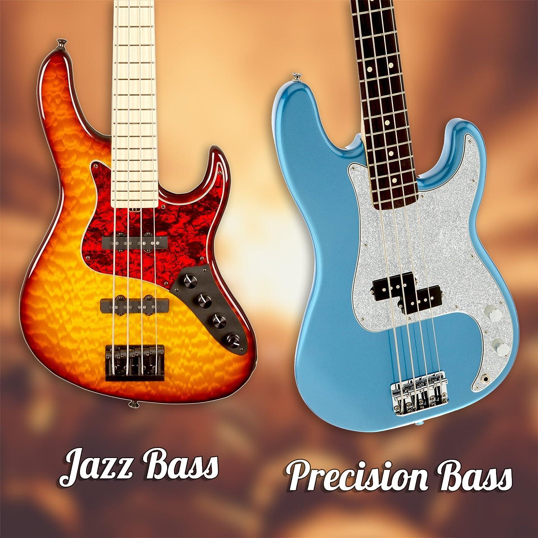 Black Sparkle D/'Andrea Jazz Bass Pickguards for Electric Guitar