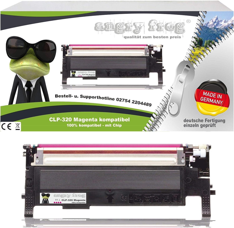 Magenta Toner Made In Germany Ersetzt Samsung Clp320 Clp325 Clt K4072s Clt C4072s Clt M4072s Clt Y4072s Bürobedarf Schreibwaren