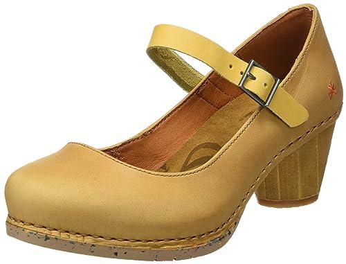 Art 1113 Olio I Laugh, Zapatos de Tacón con Punta Cerrada para Mujer, Amarillo (Peach), 39 EU Art