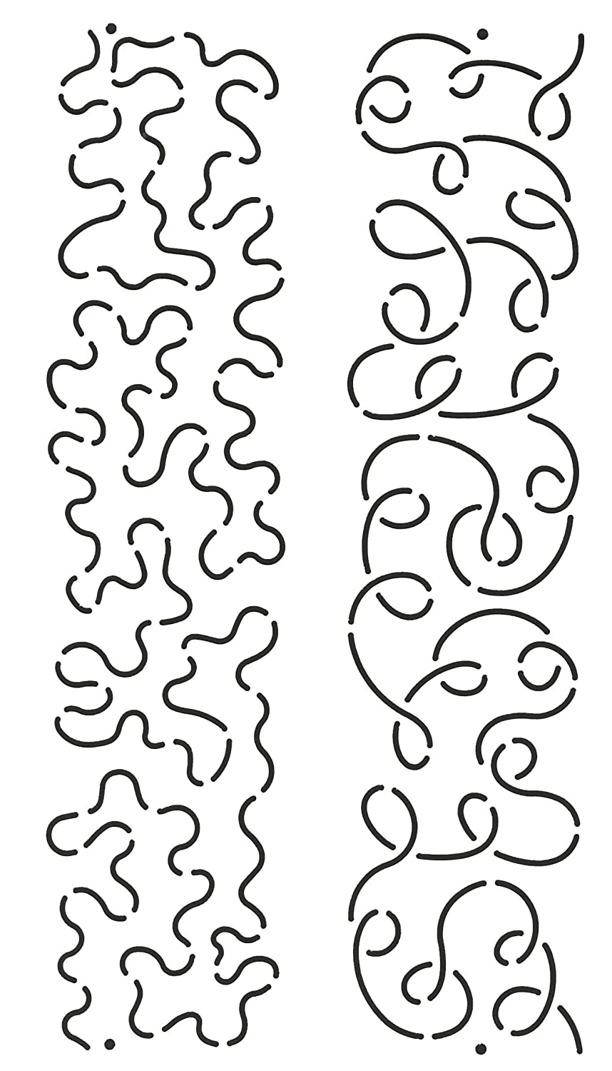Quilting Creations Loop and Stipple Sashing Quilt Stencil 2-1//2