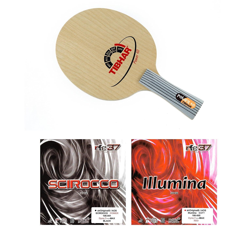 Tibhar電源40 Fl + Air Scirocco電源+ Air Illuminaソフトテーブルテニスラケット B01MS0UDFN