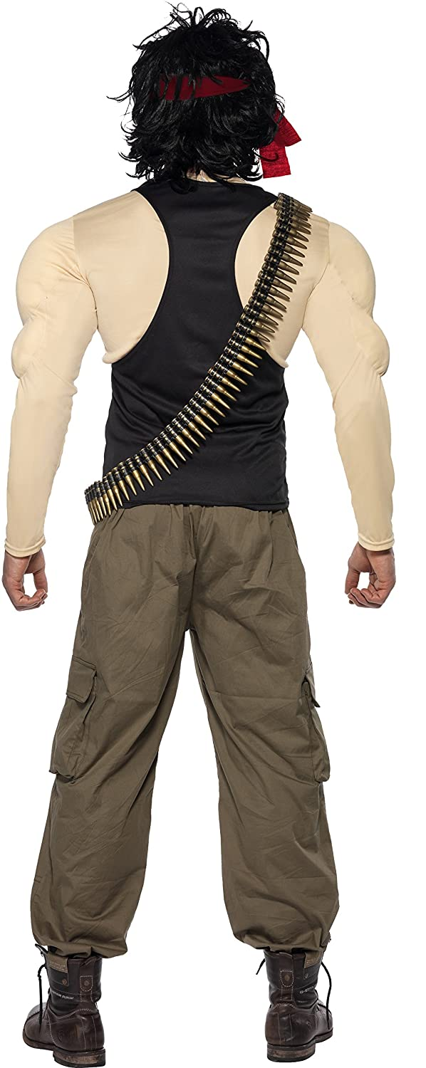 Amazon.com Smiffys Menu0027s Rambo Costume Top u0026 Pants Wig Scarf Bullet Belt u0026 Dog Tags Clothing  sc 1 st  Amazon.com : womens costumes for men  - Germanpascual.Com