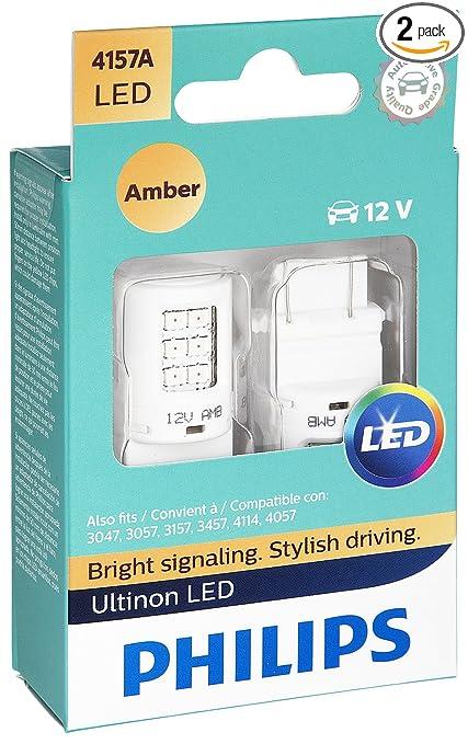 Philips 4157 Ultinon LED Bulb (Amber), 2 Pack