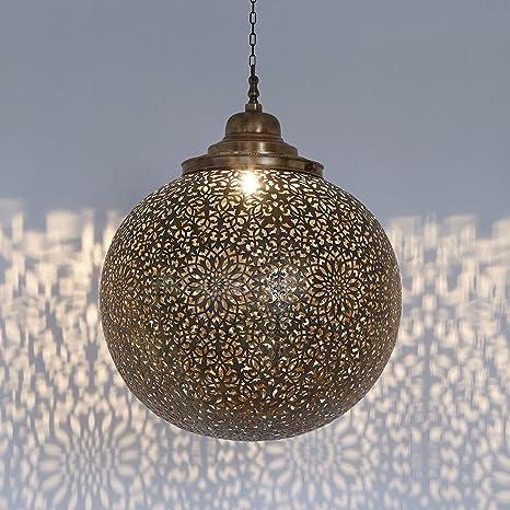 Lámpara de techo latón Lámpara Cojín redondo iluminación de ...