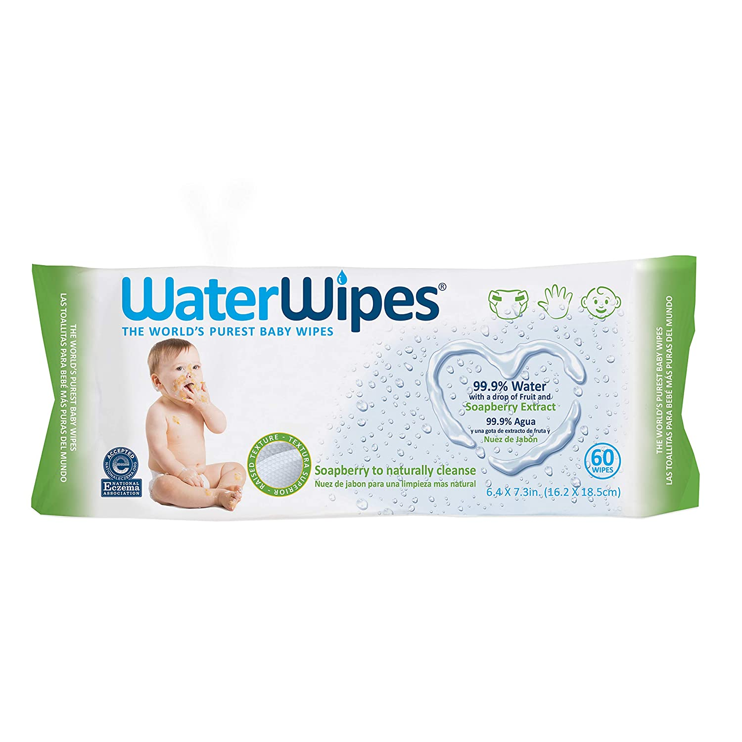 WaterWipes Sensitive Baby Wipes 540 Count 9 Packs of 60 Count