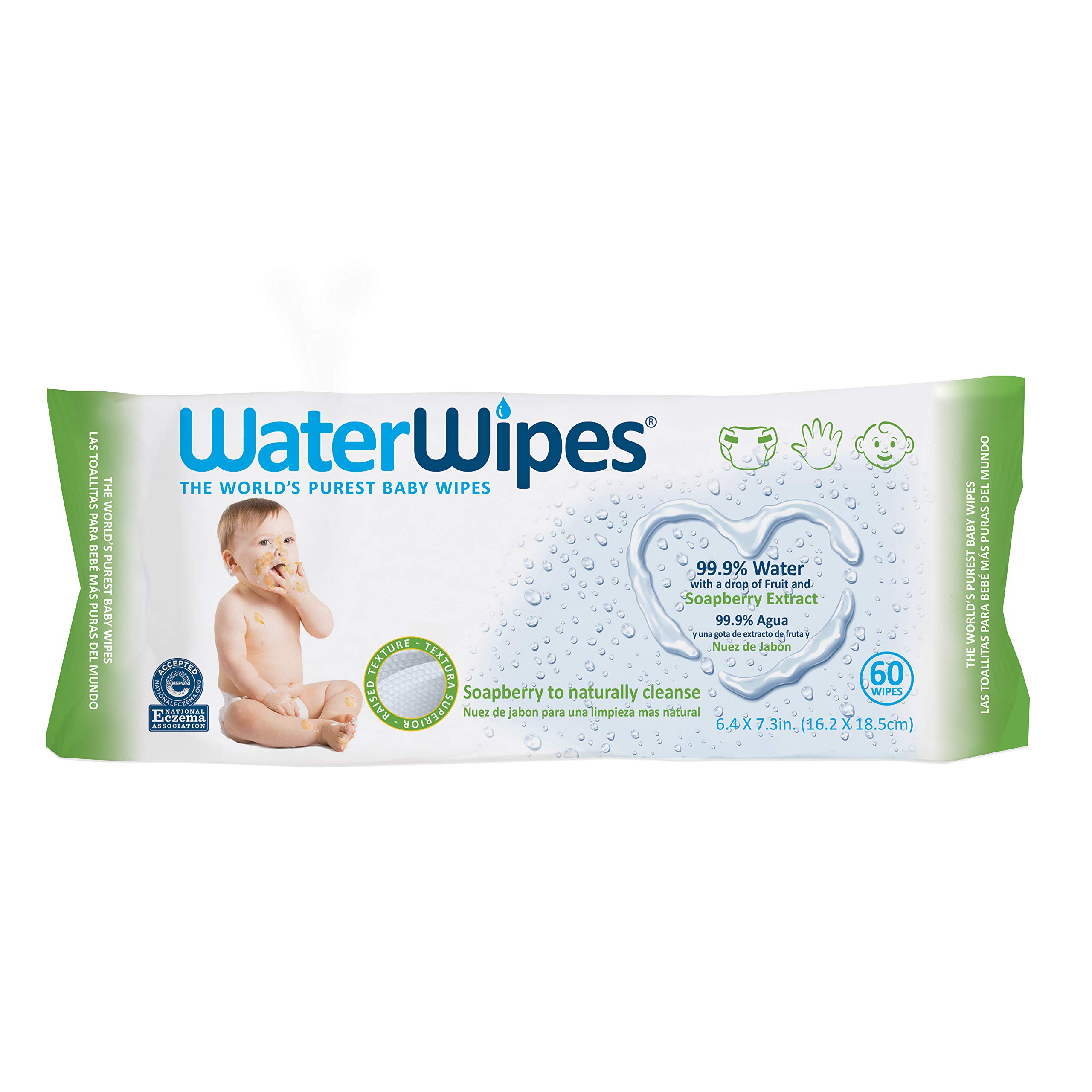 Waterwipes Hand Face Baby Wipes With Soapberry, 540 wipes (9 packs × 60 wipes)10.6 Pound by WaterWipes