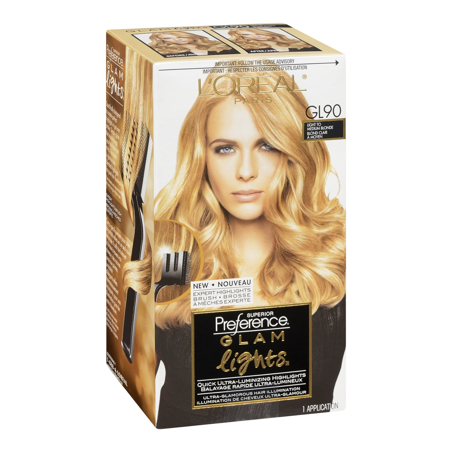 Amazon loreal paris superior preference brush on glam amazon loreal paris superior preference brush on glam highlights gl90 light blonde to medium blonde packaging may vary beauty pmusecretfo Images