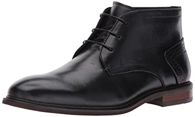 Steve Madden Men's Bowen Chelsea Boot, Black Leather, ...