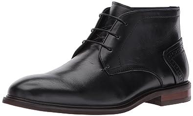 Steve Madden Men's Bowen Chelsea Boot, Black Leather, ...