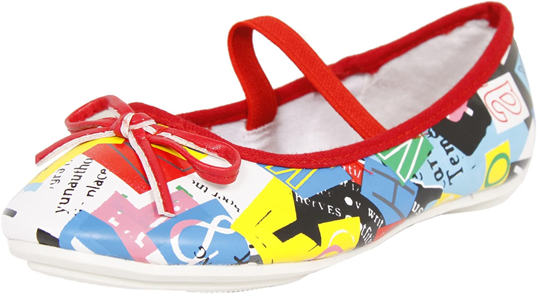 Unbekannt Urban Ballerina weiß rot 33: : Schuhe