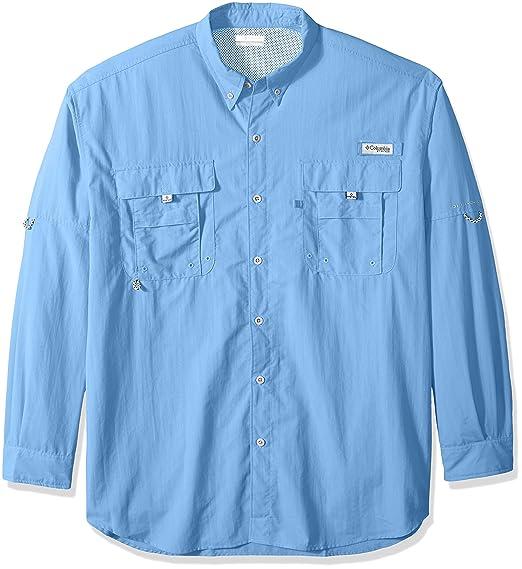 79d04569 Columbia Men's PFG Bahama II Long Sleeve Shirt - Tall , White Cap, Large/