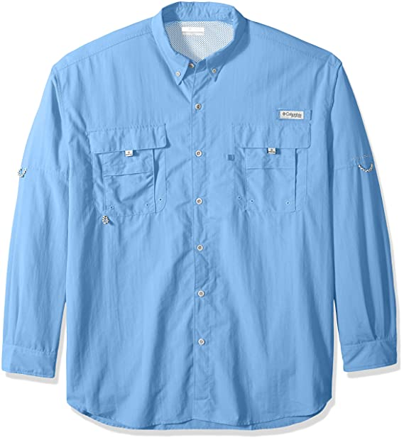1fe41549315 Columbia Men's PFG Bahama II Long Sleeve Shirt - Tall , White Cap, Large/