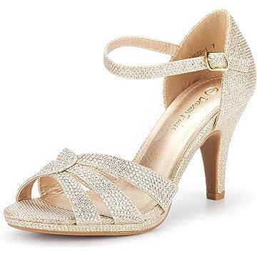 b4741ba83d5 DREAM PAIRS Women s Amore Fashion Stilettos Open Toe Pump Heel Sandals