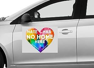 UTF4C Hate Has No Home Here Car Door Car Sticker LGBTQ Car Car Sticker Car Door Car Sticker - 4 inches