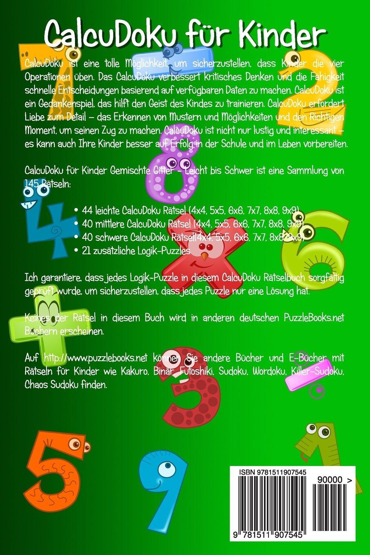 CalcuDoku für Kinder Gemischte Gitter - Leicht bis Schwer - Band 1 ...