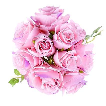 Adolingo Artificial Flowers Simulation Rose Fake Silk Flowers 12