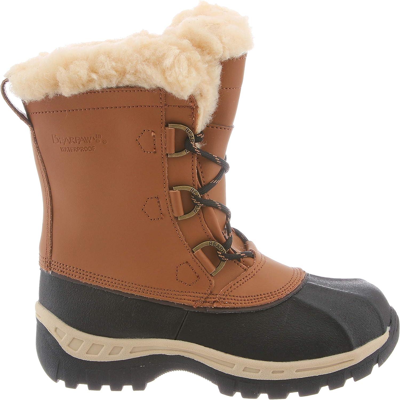1871Y Kids Bearpaw Kelly Black//Grey Waterproof Winter Boots