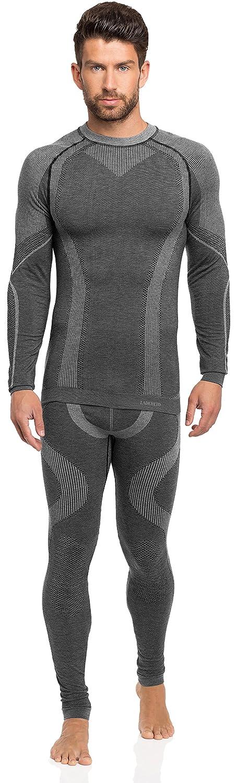 Ladeheid Herren Funktionsunterwäsche Set lange Unterhose plus langarm Shirt thermoaktiv 05 21w15w