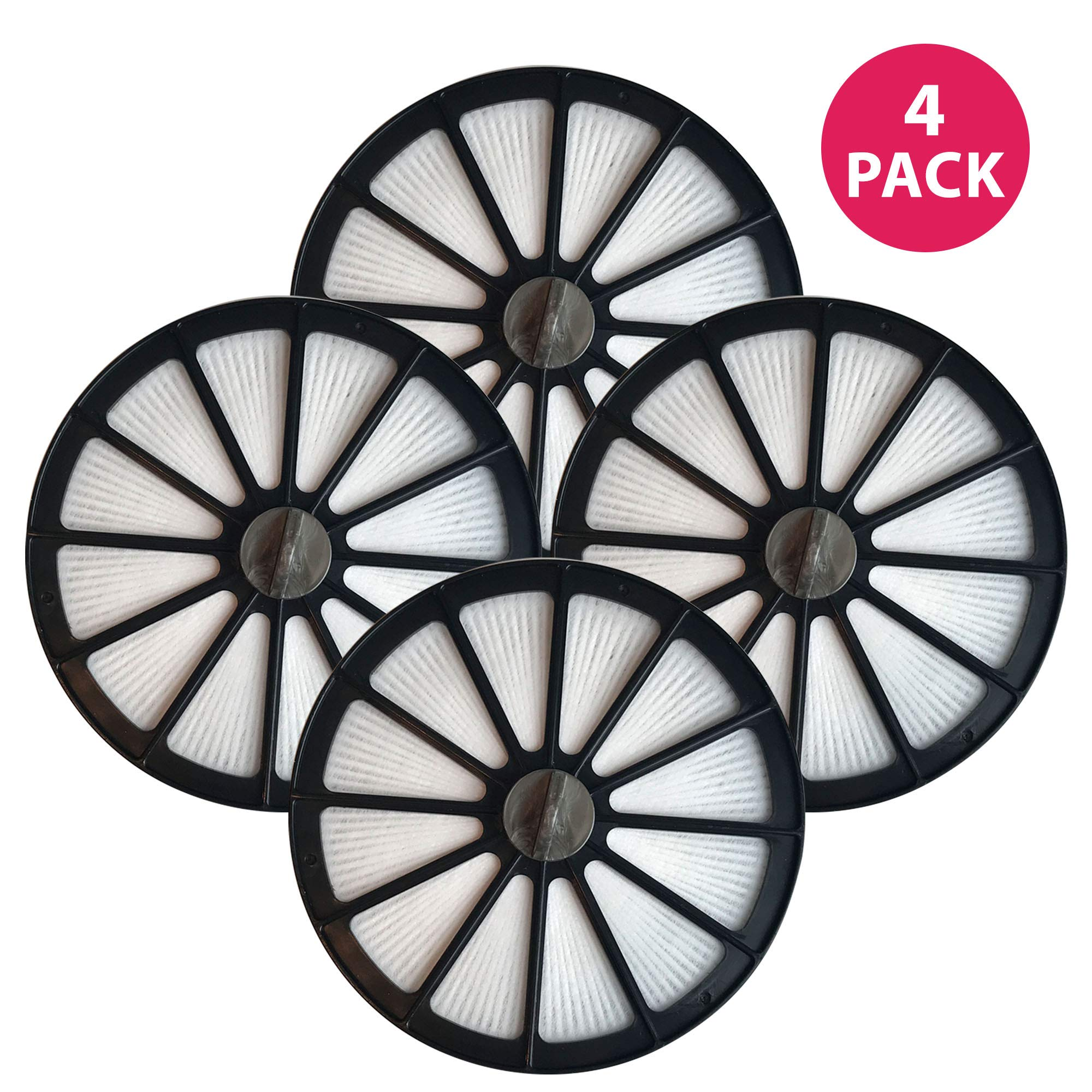 Crucial Vacuum Air Filter Replacement - Compatible with Bissell Part # 48G7, 2031473 203-1473 and Bissell Style 18 HEPA Style Filter Fits Healthy Home 16N5 Bagless Uprights - Washable (4 Pack)