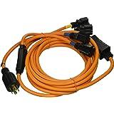 Ceptics GN-CD-1 Generator Distribution Power Cord, 25', Orange
