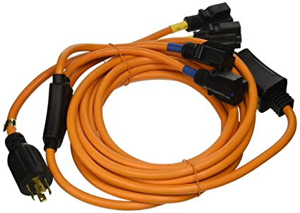 Amazon.com: Ceptics 25 Feet 30-Amp Four Outlet Convenience Cord ...
